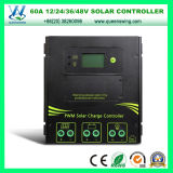 PWM Solar Charge Controller 60A 12/24/36/48V Solar Panel Controller (QWSR-LG4860)