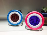 LED Backlight Digital Twin Bell Alarm Clock with Ce RoHS