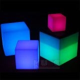 """LED Cube 8"""" Table Lamp Rechargeable Remote Control Lighting"""