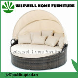 Rattan Daybed Furniture Set with Canopy (WXH-052)