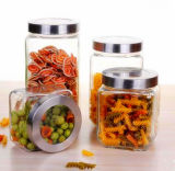 Square Glass Jar Sealed Glass Jar Candy Storage Tank Food Jar