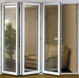 Aluminum Bi Folding Pantry Doors with Glass