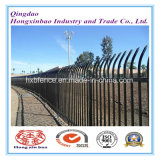Powder Coated Pressed Spear Steel Security Fence