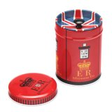 Round Metal Gift Tin Box for Tea/Chocolate/Candy Packaging
