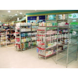 Heavy Duty Chrome Metal Retail Store Display Rack