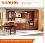 Dark Wood Color Modular Customized Design Solid Wood Kitchen Cupboards