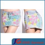 Sexy Colourful Printed Jeans Denim Mini Skirts (JC2068)