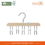 High Quality Custom Lotus Five Hooks Wood Tie Hanger