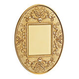 Brass Wall Blank Socket Faceplate with Classic Patterns