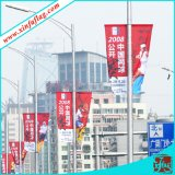 Propandizing Banners on Lamp Post, Publicity Flags on Light Post
