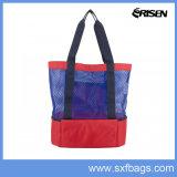 Multi Pockets Mesh Organizer Lunch Picnic Handbag