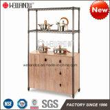 Professional Design L900 X W350 Steel Wooden Kitchen Room Cabinet Furniture Sets