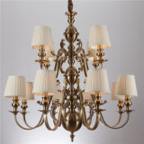Iron Chandelier Lamp with Fabric Shade (SL2091-8+4)