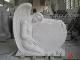 Beautiful White Marble Angel Headstone / Angel Monument