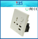 5V 2.1A Universal Dual USB Wall Socket with Switch