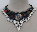 Lady High Quality Beaded Crystal Choker Fashion Necklace (JE0164-1)