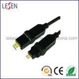 HDMI Cable, HDMI Plug to Mini Plug, Rotary Type