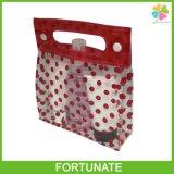 Printing Clear PVC Tote Cosmetic Handbag Shopping Bag