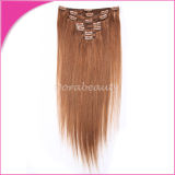 Peruvian Virgin Human Hair Extensions Clips in Hair Weft