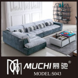2013 New Luxurious Latex Fabric Sofa (S043)