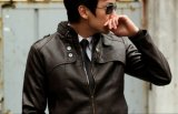 Fashion Men Slim PU Leather Jacket