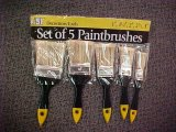White Bristle Paint Brush Set with Plastic Handle
