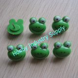Decorative Frog Shape Green Color Plastic Map Tacks