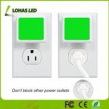 Green Nightlights with Dusk to Dawn Sensor 0.3W Auto on/off LED Night Lamp for Nursery Hallway Bedroom