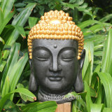 Home Decoration Polyresin Golden Buddha Head
