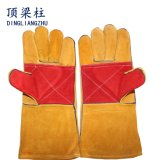 14 Inch Cow Split Leather Welding Glove with Reinforced