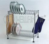 DIY Chrome Metal Kitchen Dish Drainer Rack (CJ-C1137)