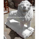 Anique Outdoor White Marble Stone Hand Carving Statue Lion Sculpture