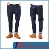 Korea Style Straight Leisure Long Denim Drop-Crotch Jeans (JC3334)