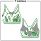 Customized High Quality Spandex Sublimation Dry Fit Sports Wear Bra