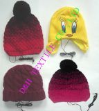 Competitive Valuable Crochet Warm Knitted Hat with Ear Phone