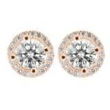 Micro Setting 925 Sterling Silver Halo Earrings Jewelry Wholesales