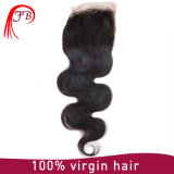 100% Brazilian Virgin Human Hair Body Wave Lace Closure