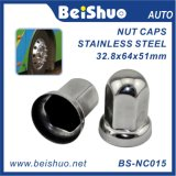 Stainless Steel Lug Nut Cover with Flanges for Ford Trucks