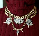 Fashion Big Charm Pendant Necklace (XJW13161)