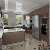 Australian Style White Lacquer Kitchen with Island