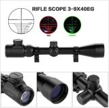 3-9X40eg Red Green Illuminated Laser Hunting Rifle Scope Sight Mil-DOT Reticle