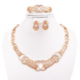Fashion Dubai Gold African Gold Plating Jewelry Set, Dubai Gold Plated Jewelry Set