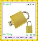 Golden Lock Shape USB Flash Drive (GC-L999)