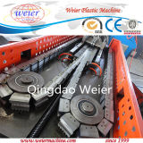PVC PE Single Double Flexible Corrugated Electrical Cable Protection Burried Underground Drainage Pipe Tube Extrusion Making Machine