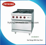 4 Burner Gas Cooker with Oven for Restaurant