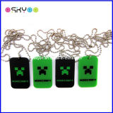 """Promotion Gifts 24"""" Ball Chain Metal Minecraft Dog Tag"""