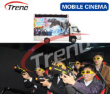 7D Interactive Game Truck Mobile 7D Cinema with Guns