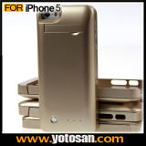 External Rechargeable Power Bank Charger Gold Battery Cover Case for iPhone 5 5s 5c