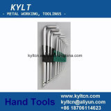 9/10PS Set Chrome Plated Ball End Allen Key