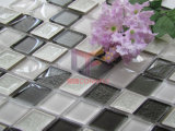 Grey Mix White Crystal and Ceramic Made Decoration Material Mosaic (CST212)